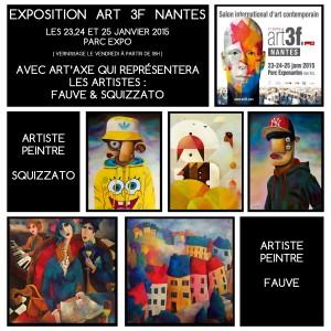 ART3f Nantes - Exposition des artistes peintres Fauve et Squizzato - www.artistefauve.com