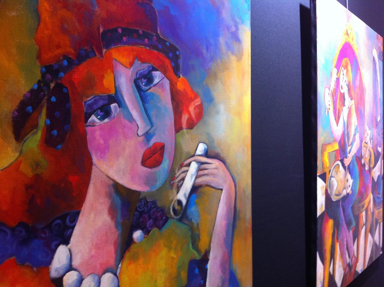 "salon art3f lyon 2013 - artiste peintre ""fauve"""